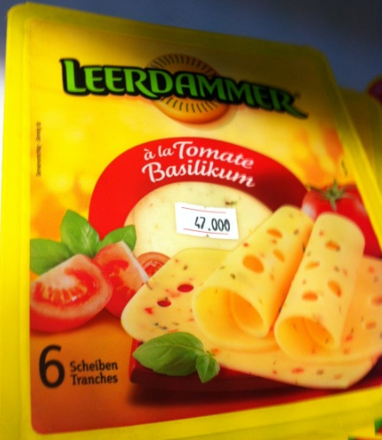 Six slices of cheese: Le 47,000 (C$ 11.33, € 8.47, £ 7.38)