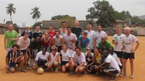 After the annual gaelic football game in Freetown
