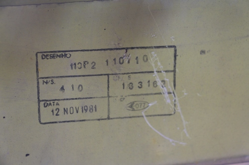 Serial Number 410, erroneously printed on the inside of the fuselage