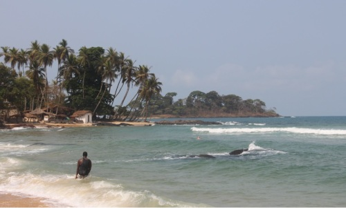 Bureh Beach is about 90 minutes from Freetown