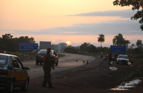 Kambia is close the the Guinean border