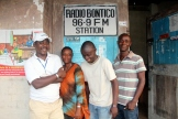 Staff at Radio Bontico in Bonthe