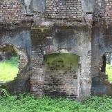 Looking out from the colonial ruins to the former slave yards on Bunce Island
