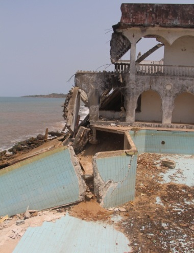The effects of sand mining on Lakka Beach