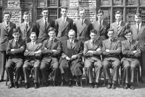 K. R. Imeson (front row, fourth from left), Headmaster of Nottingham High School, 1954