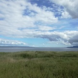 Lough Foyle. Ireland to the left, Northern Ireland to the right and in the foreground.
